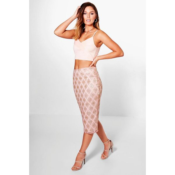 BOOHOO Boutique Arizona Glitter Mesh Midi Skirt - Skirts are the statement separate in every wardrobe This...