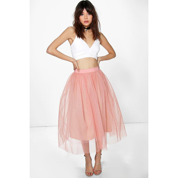 BOOHOO Boutique Aya Tulle Full Midi Skirt - Party with your pins out in a statement evening skirtSteal...