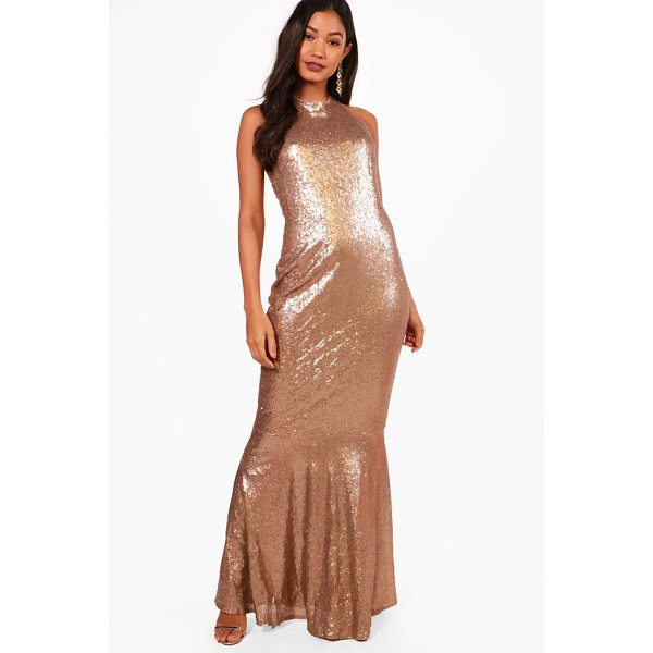 BOOHOO Boutique Celia Sequin Open Back Maxi Dress - Dresses are the most-wanted wardrobe item for day-to-night...