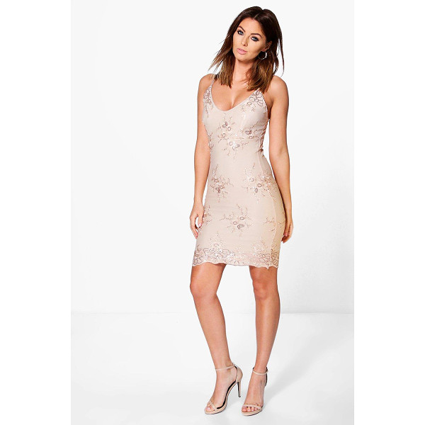 BOOHOO Boutique Di Sequin Lace Midi Bodycon Dress - Dresses are the most-wanted wardrobe item for day-to-night...