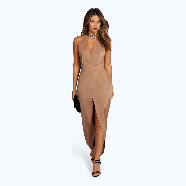 BOOHOO Boutique Dia Embellished Collar Wrap Maxi Dress - Full-on fashion starts with a floor-sweeping maxi dressMove...