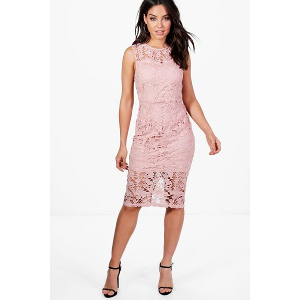 BOOHOO Boutique Eleanor Lace Sleeveless Midi Dress - Spin your way through cocktail hour in our selection of...