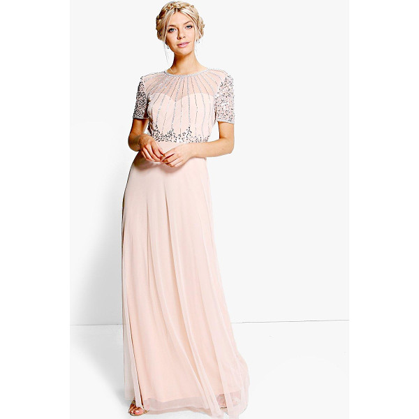 BOOHOO Boutique Emily Beaded Maxi Dress - Dresses are the most-wanted wardrobe item for day-to-night...