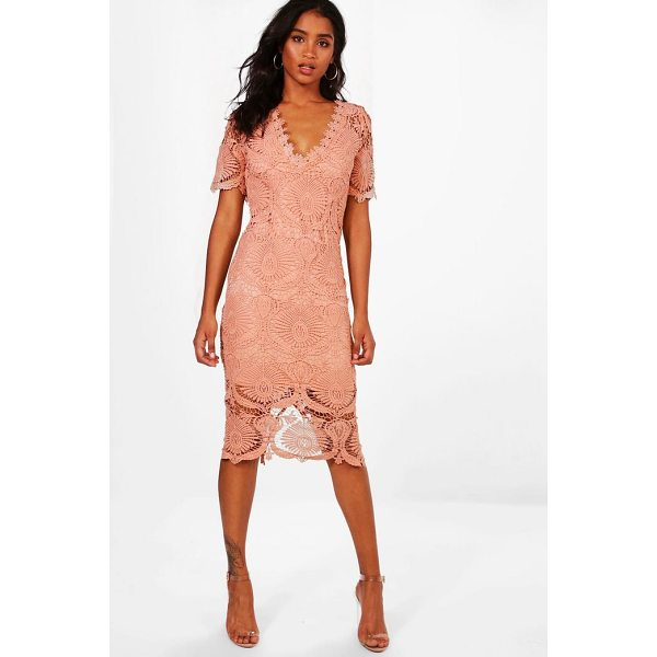BOOHOO Boutique Emma Lace Cap Sleeve Midi Dress - Dresses are the most-wanted wardrobe item for day-to-night...
