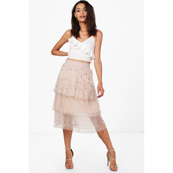 BOOHOO Boutique Farah Beaded Layered Tulle Skirt - Skirts are the statement separate in every wardrobe This...
