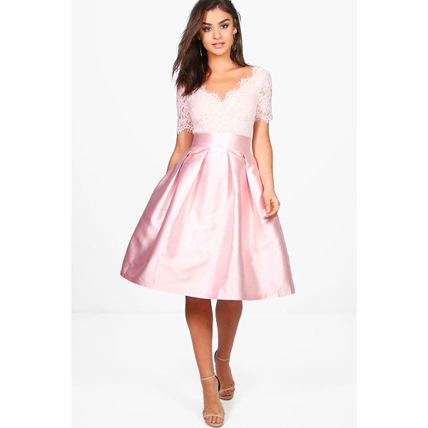 BOOHOO Boutique Fay Eyelash Lace Skater Dress - Every girl's wardrobe should include a skater dress. A...
