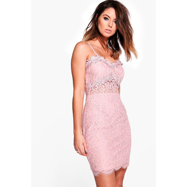 BOOHOO Boutique Fez Crochet Trim Lace Bodycon Dress - Dresses are the most-wanted wardrobe item for day-to-night...