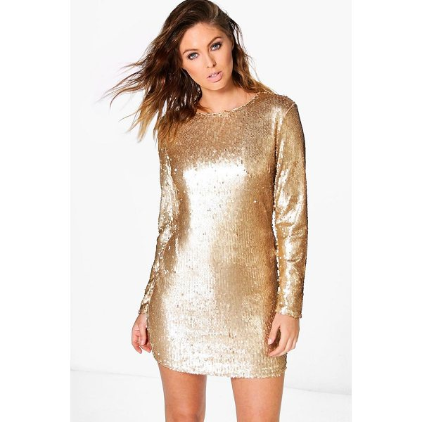 BOOHOO Boutique Fliss Sequin Bodycon Dress - Dresses are the most-wanted wardrobe item for day-to-night...