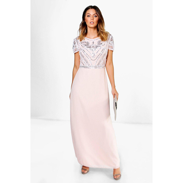 BOOHOO Boutique Francesca Embellished Top Maxi Dress - Dresses are the most-wanted wardrobe item for day-to-night...