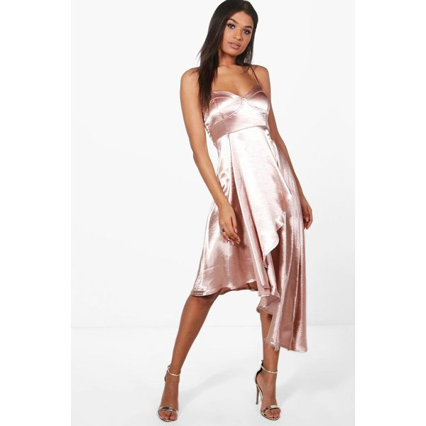 BOOHOO Boutique Hemia Asymetric Hem Wrap Dress - Dresses are the most-wanted wardrobe item for day-to-night...