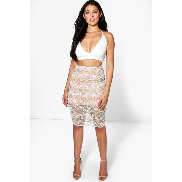 BOOHOO Boutique Honor Embellished Midi Skirt - Skirts are the statement separate in every wardrobe This...
