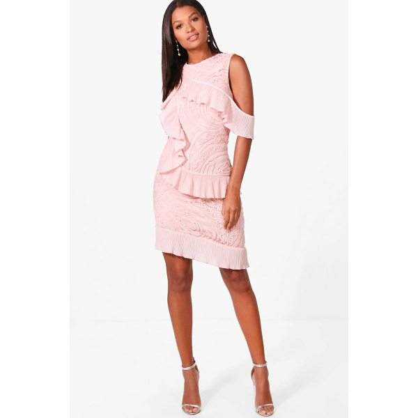 BOOHOO Boutique Kady Cold Shoulder Frill Dress - Dresses are the most-wanted wardrobe item for day-to-night...