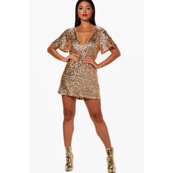 BOOHOO Boutique Kate Sequin Short Sleeve Shift Dress - Dresses are the most-wanted wardrobe item for day-to-night...