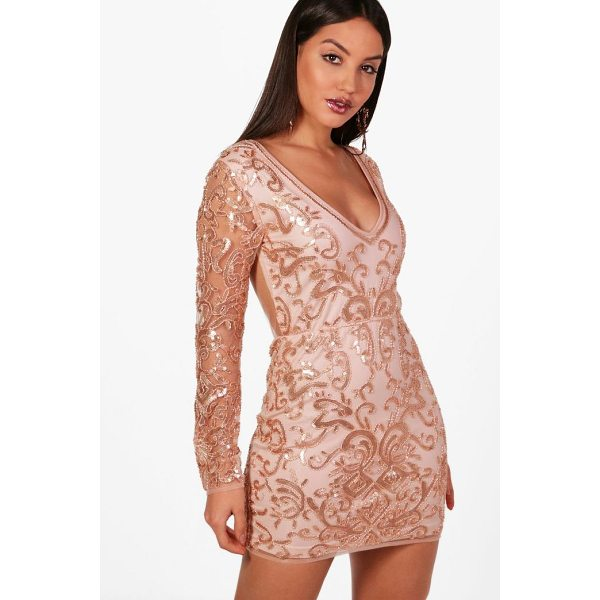 BOOHOO Boutique Laura Embellished Bodycon Dress - Dresses are the most-wanted wardrobe item for day-to-night...