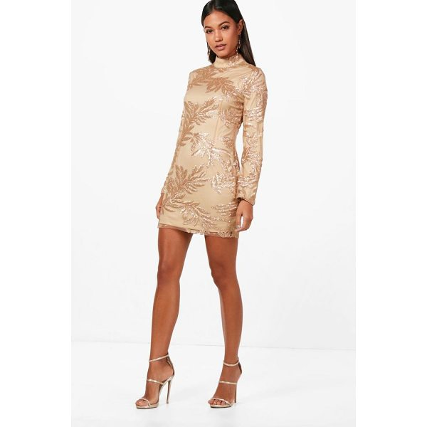 BOOHOO Boutique Lisa Sequin Print Bodycon Dress - Dresses are the most-wanted wardrobe item for day-to-night...