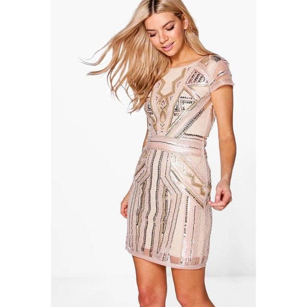 BOOHOO Boutique Liv Sequin Cap Sleeve Shift Dress - Dresses are the most-wanted wardrobe item for day-to-night...