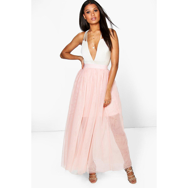BOOHOO Boutique Lyssa Full Length Tulle Skirt - Party with your pins out in a statement evening skirtSteal...