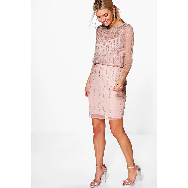 BOOHOO Boutique Marlena Beaded Batwing Dress - Dresses are the most-wanted wardrobe item for day-to-night...