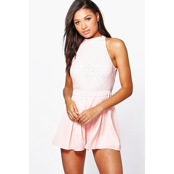 BOOHOO Boutique Mary Statement Back Playsuit - Perfect for day or play, a playsuit will solve your...