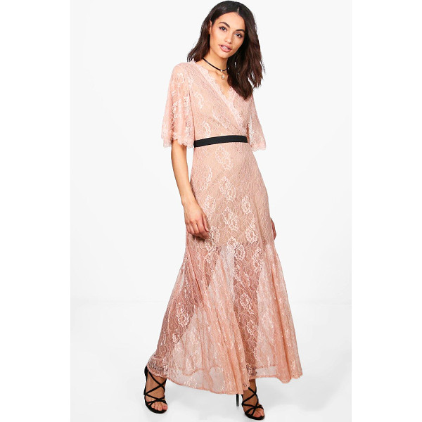 BOOHOO Boutique May Lace Angel Sleeve Maxi Dress - Dresses are the most-wanted wardrobe item for day-to-night...