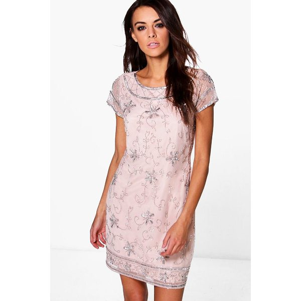 BOOHOO Boutique Mona Embellished Shift Dress - Dresses are the most-wanted wardrobe item for day-to-night...