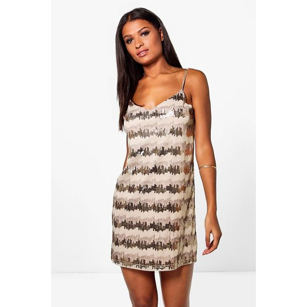 BOOHOO Boutique Neve Sequin Embroidary Slip Dress - Dresses are the most-wanted wardrobe item for day-to-night...