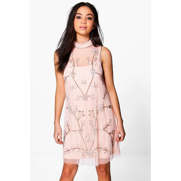 BOOHOO Boutique Nora Embellished Swing Dress - Dresses are the most-wanted wardrobe item for day-to-night...
