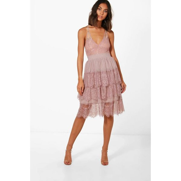 BOOHOO Boutique Nova Eyelash Lace Layered Tulle Skirt - Skirts are the statement separate in every wardrobe This...