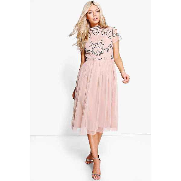 BOOHOO Boutique Rita Embellished Midi Dress - Dresses are the most-wanted wardrobe item for day-to-night...