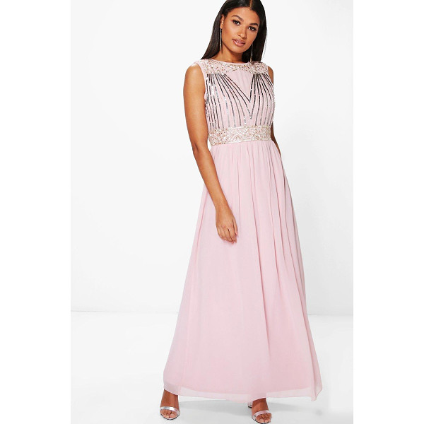 BOOHOO Boutique Rosa Embellished Chiffon Maxi Dress - Dresses are the most-wanted wardrobe item for day-to-night...