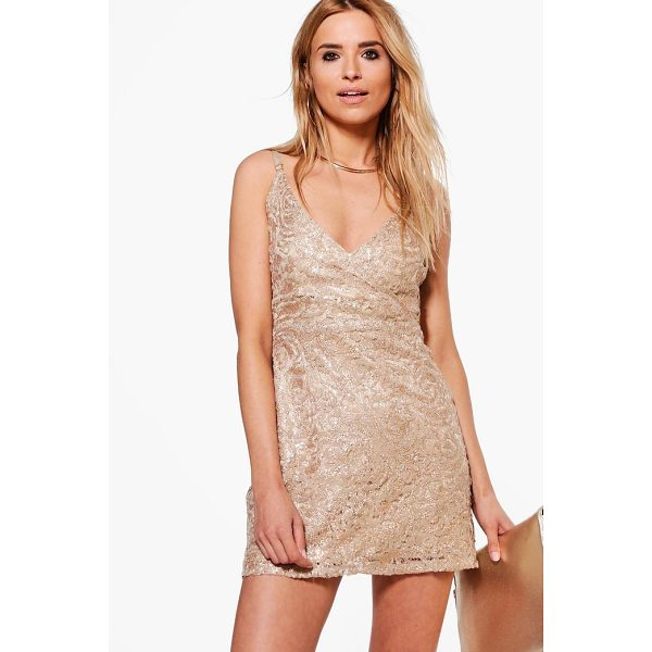 BOOHOO Boutique Sade Lace Sequin Bodycon Dress - Dresses are the most-wanted wardrobe item for day-to-night...