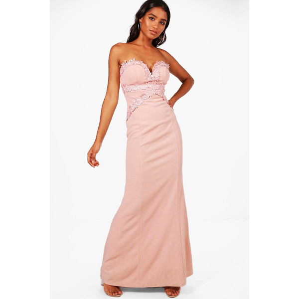 BOOHOO Boutique Sally Applique Trim  Maxi Dress - Dresses are the most-wanted wardrobe item for day-to-night...