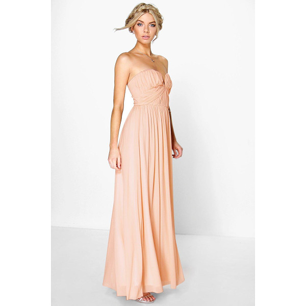BOOHOO Boutique Sia Mesh Rouched Plunge  Maxi Dress - Get dance floor-ready in an entrance-making evening...