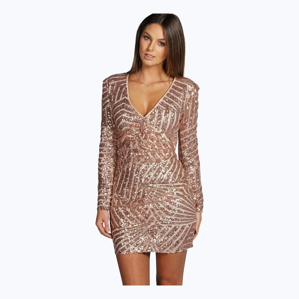 BOOHOO Boutique Sue Sequin Panelled Bodycon Dress - Going out' We've got all the must have mini dresses: think...