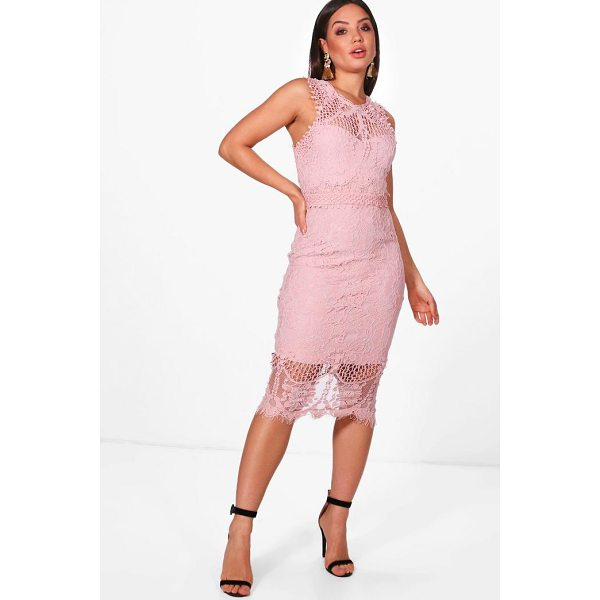 BOOHOO Boutique Varity Lace Crochet Midi Dress - Dresses are the most-wanted wardrobe item for day-to-night...