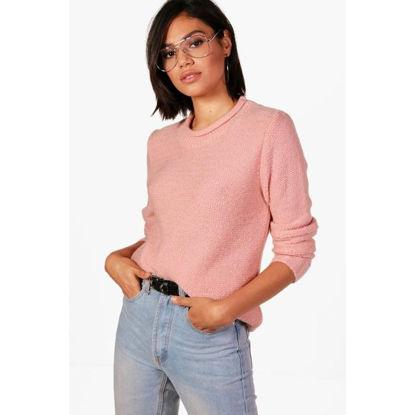 BOOHOO Brooke Loose Stitch Curve Neck Jumper - Nail new season knitwear in the jumpers and cardigans that...