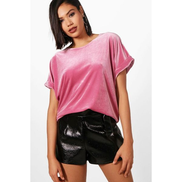 BOOHOO Brooke Velvet Oversized T-Shirt - Steal the style top spot in a statement separate from the...