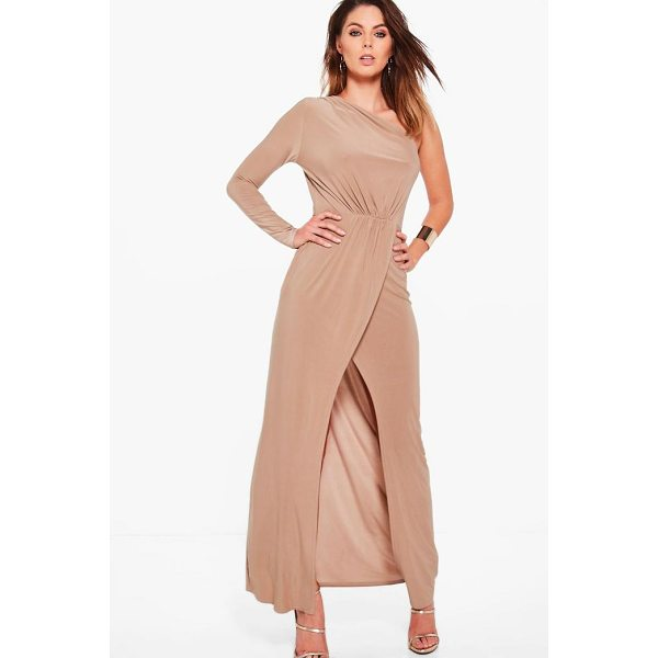 BOOHOO Caia One Shoulder Wrap Slinky Maxi Dress - Dresses are the most-wanted wardrobe item for day-to-night...