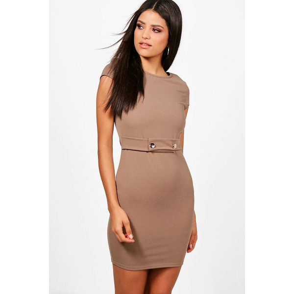BOOHOO Cara Cap Sleeve Dress - Dresses are the most-wanted wardrobe item for day-to-night...