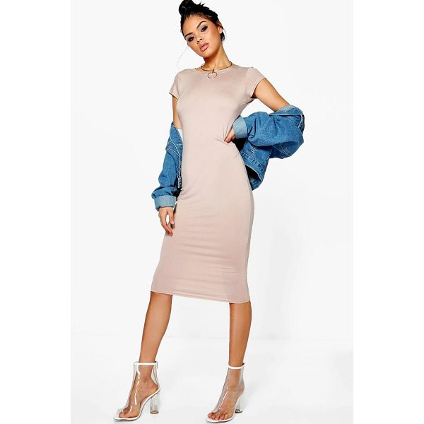 BOOHOO Cara Cap Sleeve Jersey Bodycon Midi Dress - Dresses are the most-wanted wardrobe item for day-to-night...
