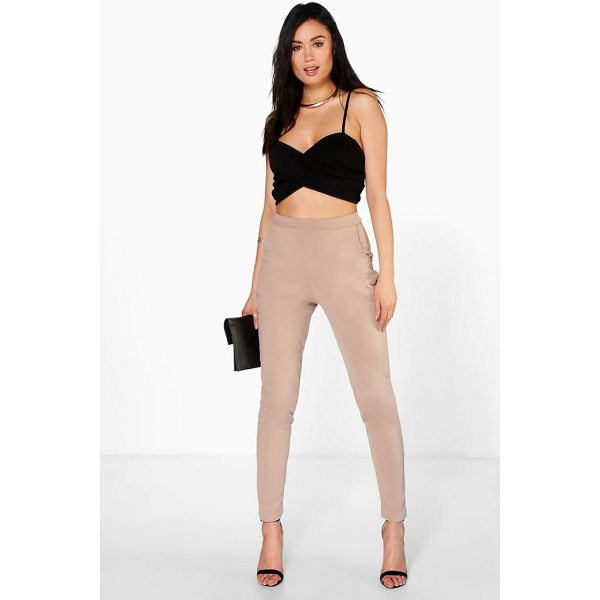 BOOHOO Carmilla Scuba Super Stretch Skinny Trousers - Trousers are a more sophisticated alternative to...
