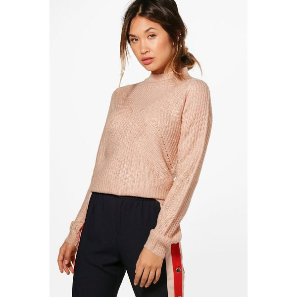 BOOHOO Caroline Turtle Neck Ribbed Jumper - Nail new season knitwear in the jumpers and cardigans that...