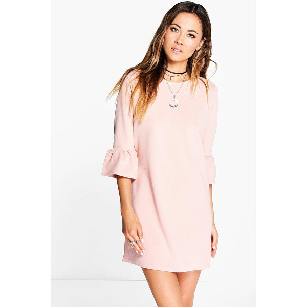 BOOHOO Casey Ruffle Sleeve Shift Dress - Pared back day dresses are the perfect base for layering up...