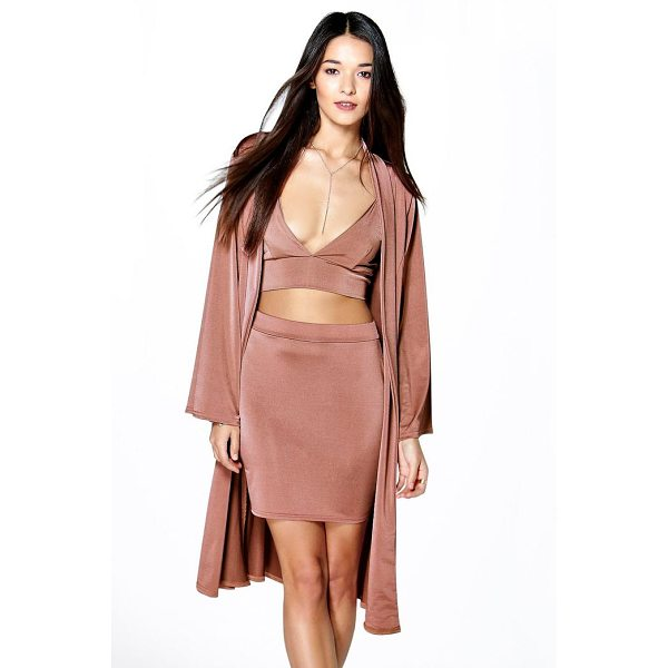 BOOHOO Cass Mini Skirt  Bralet & Drape Jacket Co-Ord Set - Co-ordinates are the quick way to quirky this seasonMake...