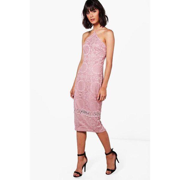 BOOHOO Cassie All Over Lace Strappy Midi Dress - Dresses are the most-wanted wardrobe item for day-to-night...