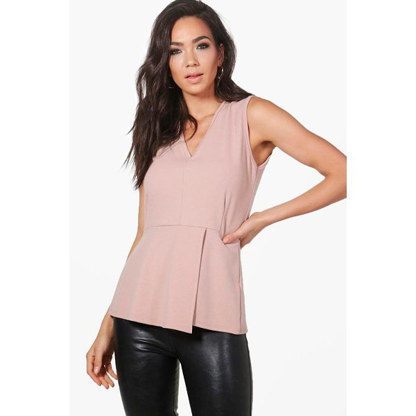 BOOHOO Charlotte Fitted Peplum Top - Steal the style top spot in a statement separate from the...