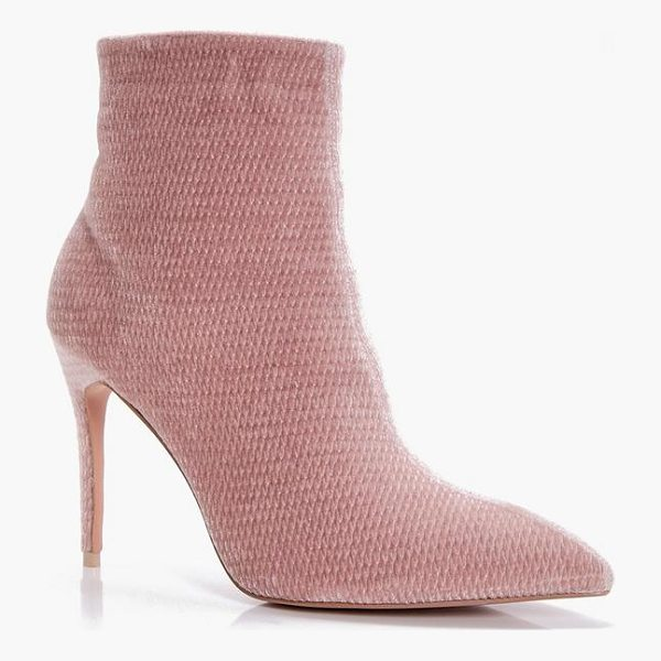 BOOHOO Charlotte Pointed Mid Heel Ankle Boot - We'll make sure your shoes keep you one stylish step ahead...