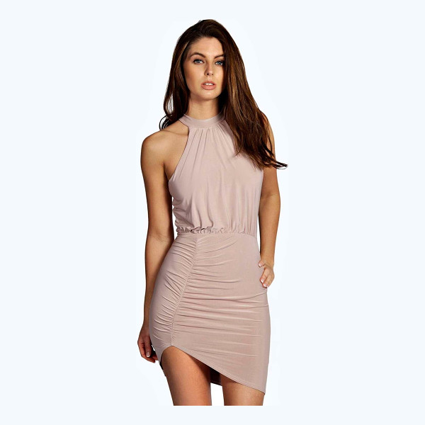 BOOHOO Chris Slinky High Neck Bodycon Dress - Dresses are the most-wanted wardrobe item for day-to-night...