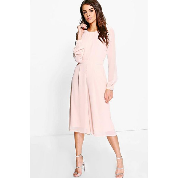 BOOHOO Cora Long Sleeve Culotte Jumpsuit - Jump start your new season wardrobe with the always chic...
