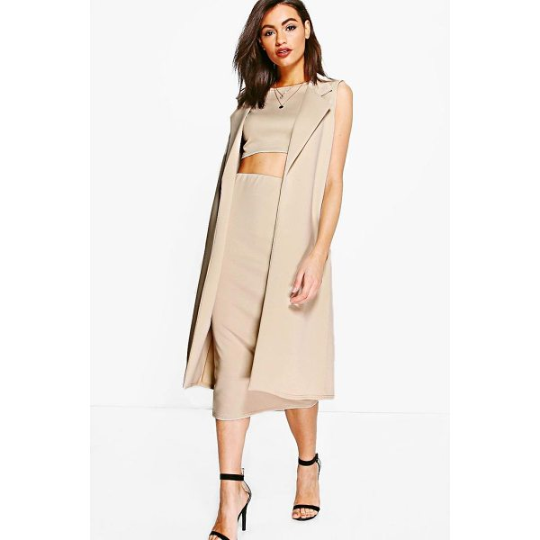 BOOHOO Daisy 3 Piece Crop Skirt & Duster Co-ord - Co-ordinates are the quick way to quirky this seasonMake...